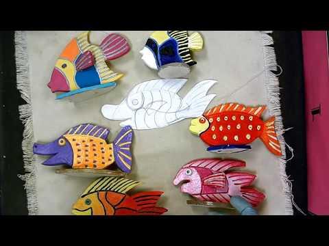 Ceramic Relief Sculpture Fish
