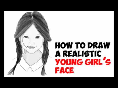 How To Draw A Girl S Face With Long Hair Braids Cute Realistic Easy Step By Step Drawing