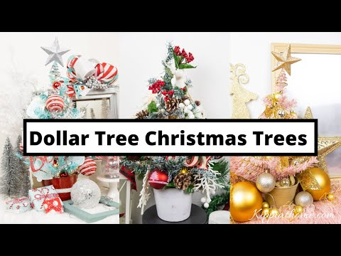 3 DIY Dollar Tree Christmas Tree Decorating Challenge!!!