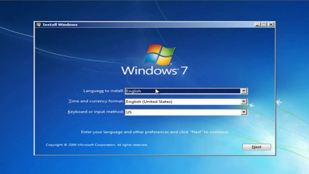 How to install Windows 7 from USB drive Easy Tutorial HD - YouTube