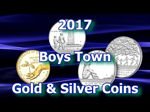 US Mint Special Boys Town Gold & Silver Dollar Coins
