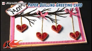 DIY Paper Quilling Heart Greeting Card  - JK Arts 565