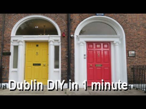 Dublin DIY in 1 minute - Fitzwilliam Square. Match your front door to a Georgian masterpiece
