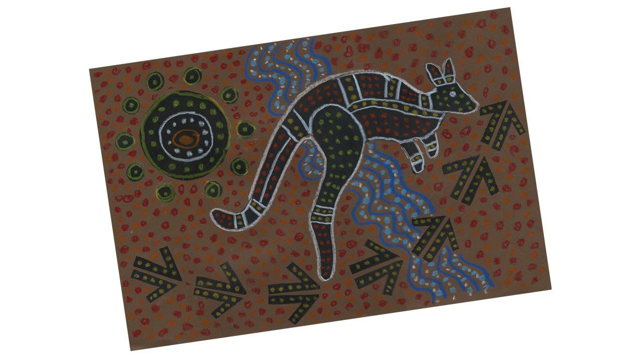 Aboriginal Kangaroo Drawing Project 175 Youtube