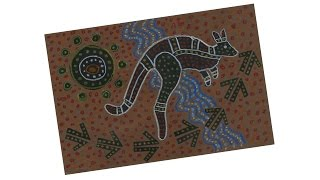 Aboriginal Kangaroo Drawing - Project #175