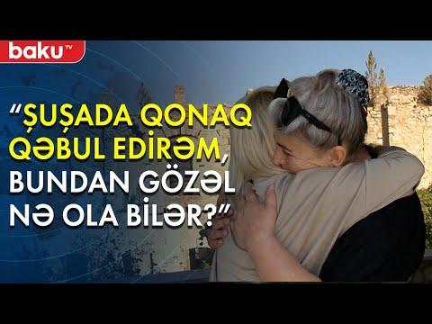 """""""Baku TV"""" Şuşada, Firəngiz Mütəllimovanın dağılmış ocağında - Baku TV"""