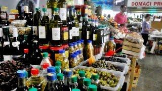 Рынок в Будве Цены 2016 Черногория (The market in Budva Montenegro)(На рынке в Будве бесплатно предлагают домашнее вино и оливки. Продавцы на рынке очень доброжелательно отно..., 2016-07-25T20:11:29.000Z)