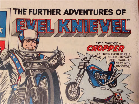 COMIC MAN PRODUCTIONS: FURTHER ADVENTURES OF EVEL KNIEVEL SPIDER-MAN COMIC BOOK AD 1976
