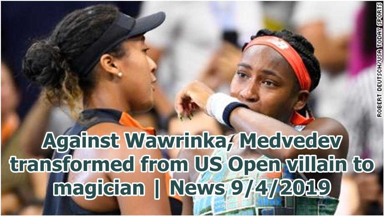 Against Wawrinka, Medvedev transformed from US Open villain to magician