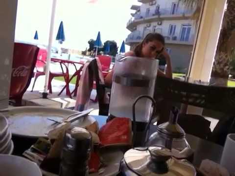 Richard and Anthea go to Greece- breakfast near Hania.