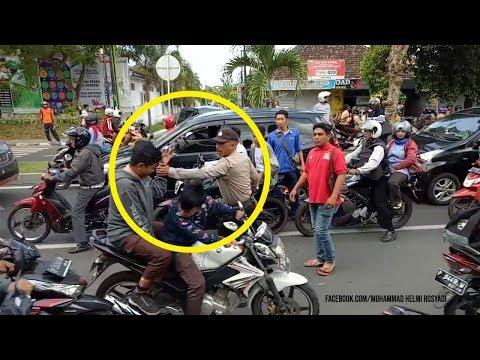 Polisi Pukuli Kepala Pelajar yang Hendak Tawuran, Videonya Viral Mp3