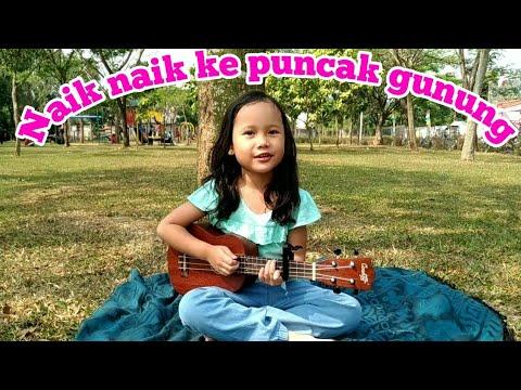 Naik Naik Ke Puncak Gunung - Lagu Anak Terpopuler - Ukulele Cover By Kinara Kumboro