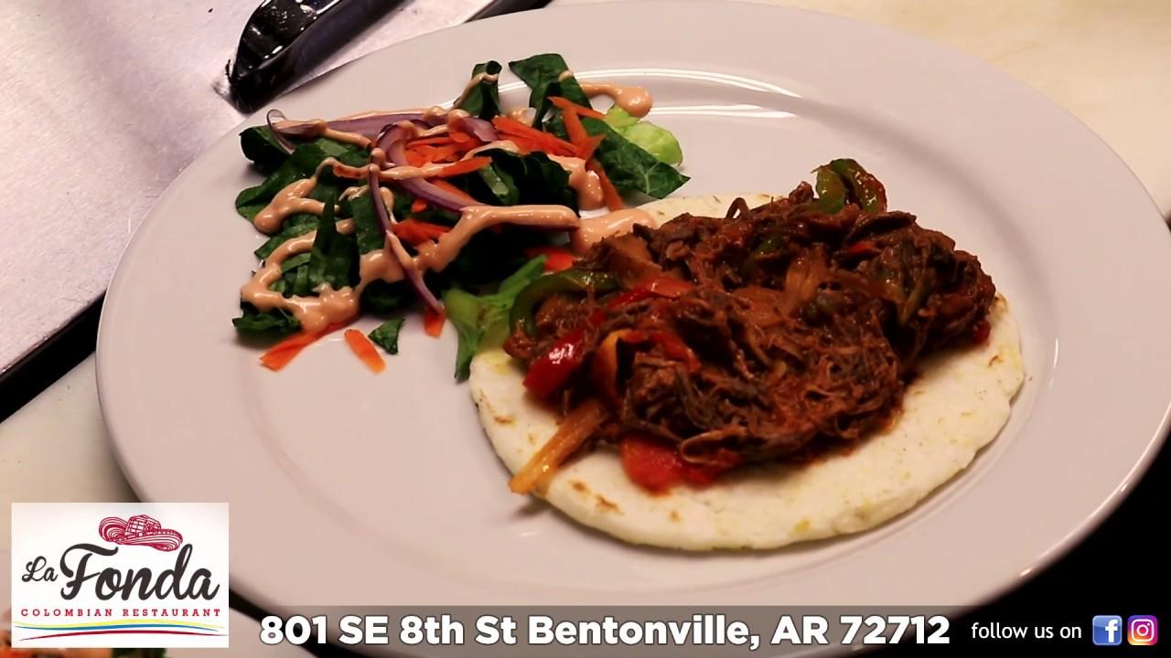 La Fonda Colombian Food In Bentonville Youtube