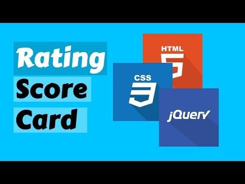 Rating scorecard using Jquery thumbnail