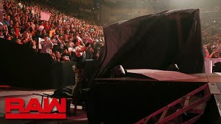 "Braun Strowman tips over the ""Kevin Owens Show"" stage: Raw, Aug. 6, 2018"
