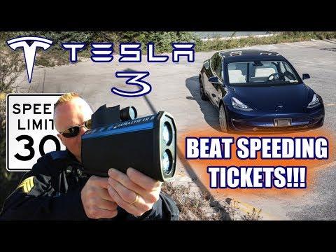 Tesla Model 3 -  BEAT SPEEDING TICKETS WITH STEALTH HIDDEN DEFENSE!!!