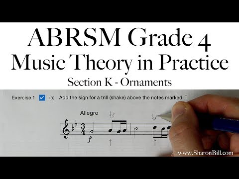 ABRSM Grade 4 Music Theory Section K Ornaments with Sharon Bill