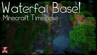 Minecraft Timelapse - A BASE inside a WATERFALL! (WORLD DOWNLOAD)