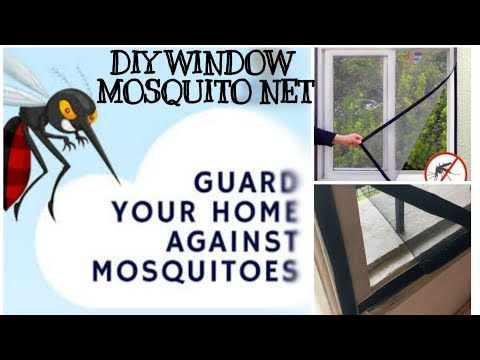 DIY WINDOW MOSQUITO NET EASY TO MAKE WITH SIMPLE MATERIALS    BE AWARE OF MOSQUITOES