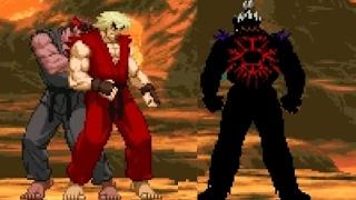 Violent Ken & Evil Ryu vs God Akuma Lvl 3