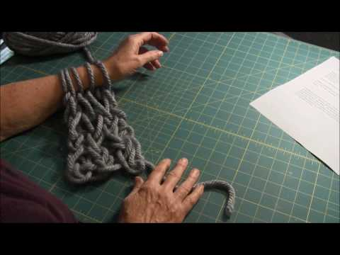 Arm Knitting (Part 2) - How to Knit (Knit Stitch)
