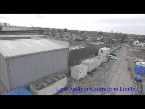 Drone Survey of new completed Sheeted & Cladded building by Lane Roofing