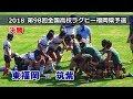 東福岡 vs 筑紫【決勝】 [1st]  2018全国高校ラグビー福岡県大会(花園予選)