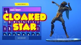 NEUE LEAKED CLOAKED STAR SKIN MIT EMOTES IN-GAME FORTNITE