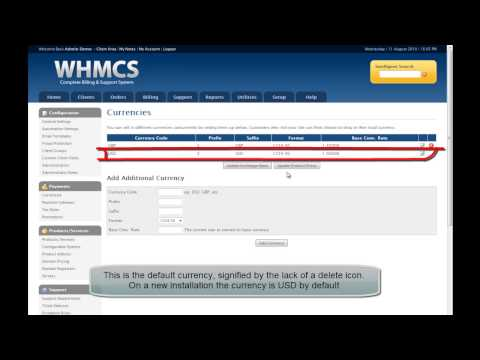WHMCS Change Default Currency