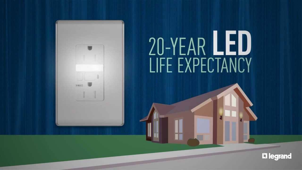 Legrand Tamper Resistant Nightlight Outlet Overview Youtube