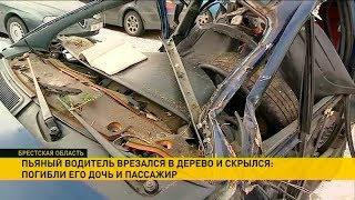Пьяный водитель врезался  в дерево и скрылся: погибли его дочь и пассажир