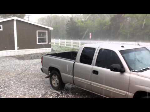 Hail Storm Denton Tx, December/06/2013