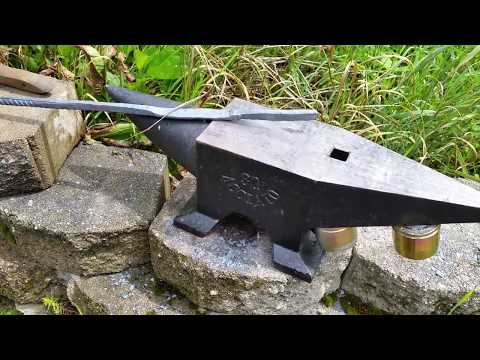 Wood Stove Forge - Forging Tongs from Rebar