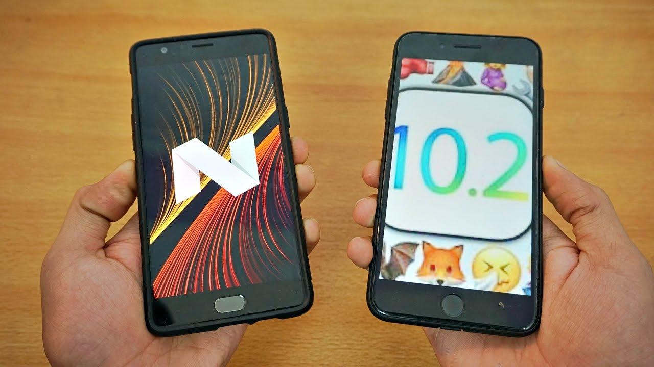 Oneplus 3t vs iphone 7 plus