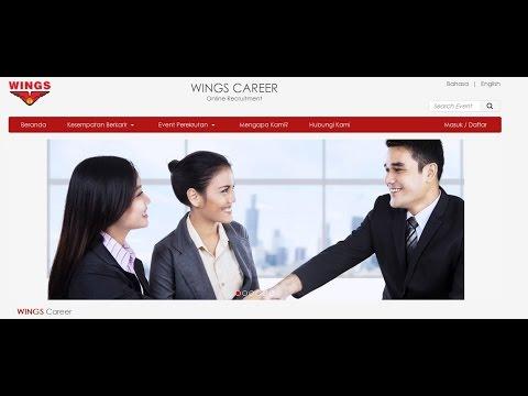 Cara Melamar kerja PT Wings (Pt Tirta Alam Segar) lewat Website