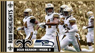 Saints vs Seahawks Raw On-Field Highlights   2019 NFL Week 3   New Orleans Saints