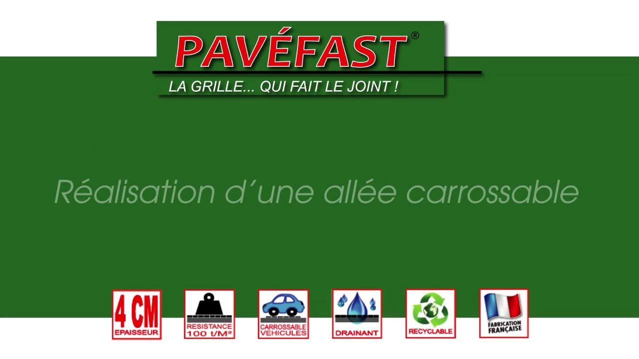 Pavéfast Mise En Oeuvre Remplissage Pavécarros Sur Une Dalle Béton