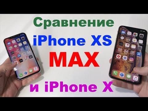 Сравнение iPhone XS Max и iPhone X