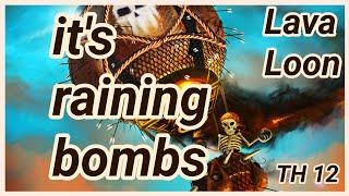 Lava Loon | TH 12 | 3 Star War Attack | balloons |lava hound | air strike | COC 03/19 clash of clans