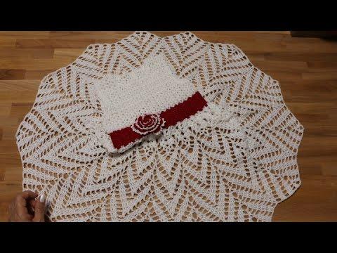 Vestido punto zig zag a crochet