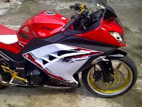 contoh modifikasi motor ninja 250 abs