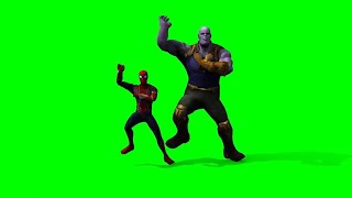 Thanos and Spiderman dance green screen video without water mark
