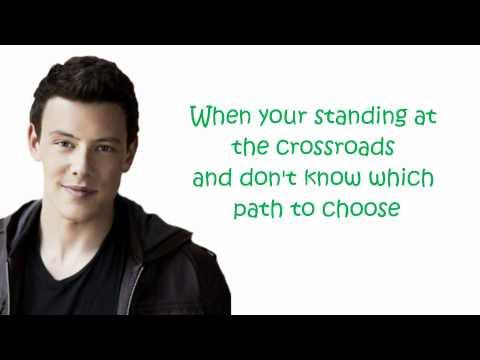 glee I'll stand by you (lyrics)