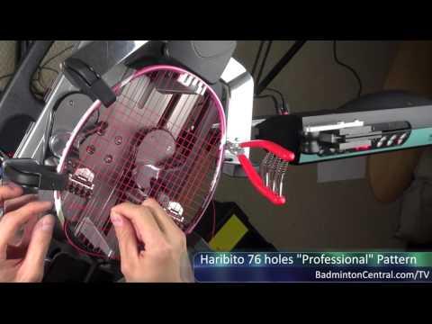 How to string Haribito 76 holes (22x21) Professional Pattern - Badminton Stringing