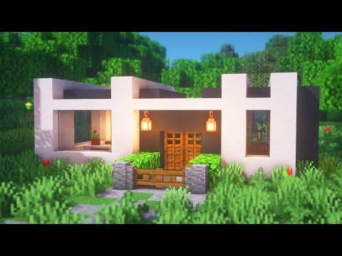 Minecraft: How To Build A Modern Starter House | Modern House Survival Tutorial