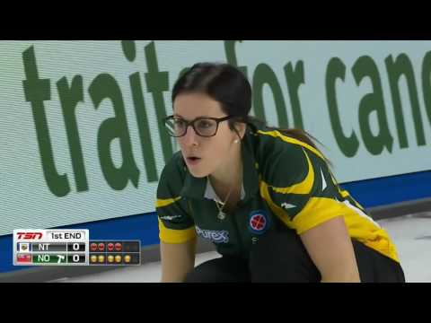2017 Scotties Tournament of Hearts - McCarville (NO) vs. Galusha (NT) - Draw 17