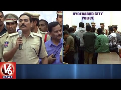 Southzone Police Raids On Internet Centers in Old City | Files FIR On 32 Centers | Hyderabad | V6
