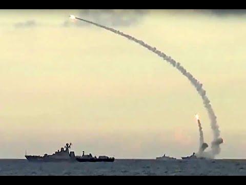 ���ัสเซียยิงขีปนาวุธจากเรือดำน้ำถล่มไอเอสในซีเรีย Youtube