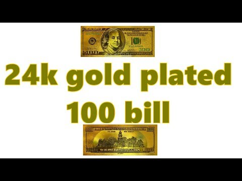 24k Gold Plated 100 Dollar Bill