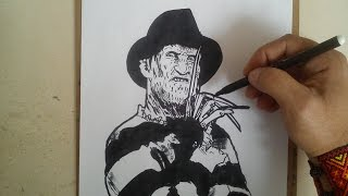 COMO DIBUJAR A FREDDY KRUGUER / how to draw freddy kruger